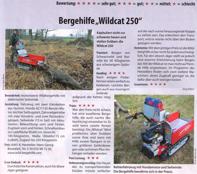 Test Bergehilfe Wildcat 250