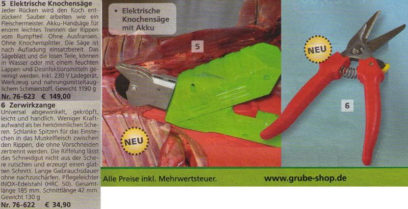 Elektrische Knochensäge im Grube Katalog