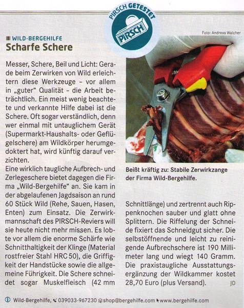 2011-03 Pirsch - Test Aufbrechschere