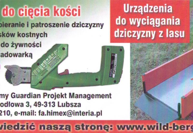 Elektrische Knochensäge - Werbeflyer Polen