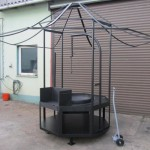 Metallpavillon mit Feuerstelle bestellen