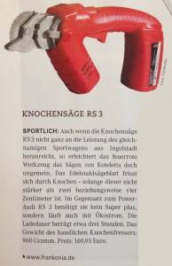RS3 Knochensaege (© Zeitschrift: unsere Jagd 11'2014, Seite 80)
